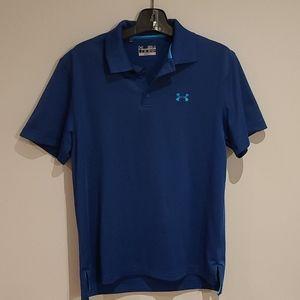 Under Armour blue golf shirt size small
